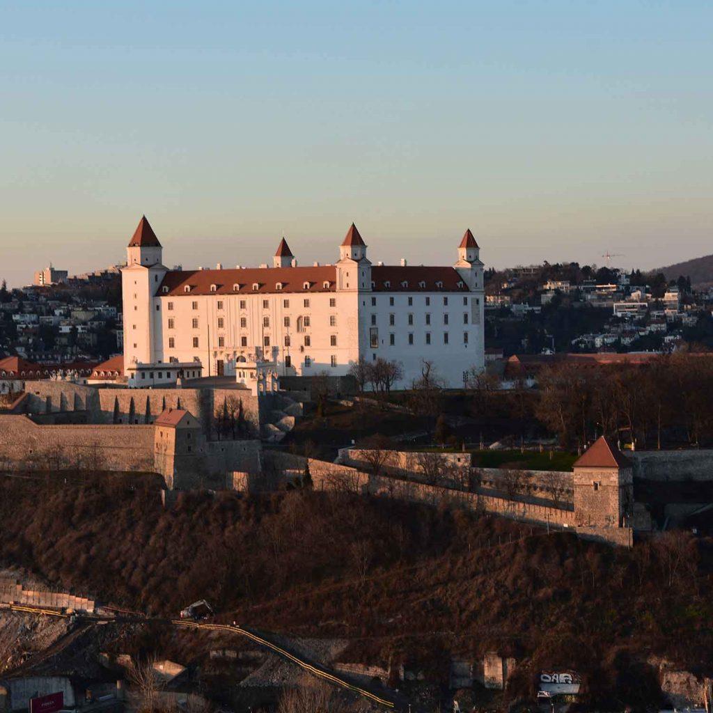 Castillo Bratislava en Eslovaquia Europa