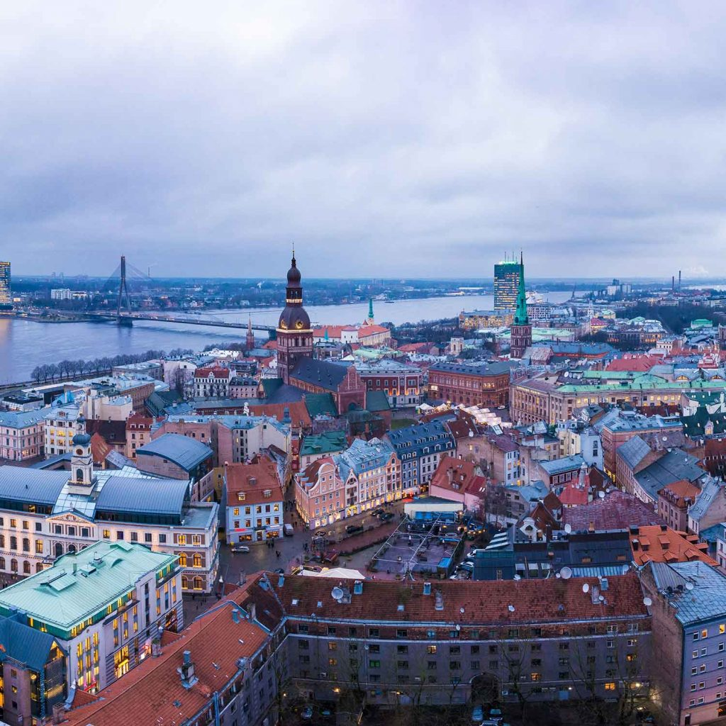 La ciudad Riga Letonia ciudad baratas Europa