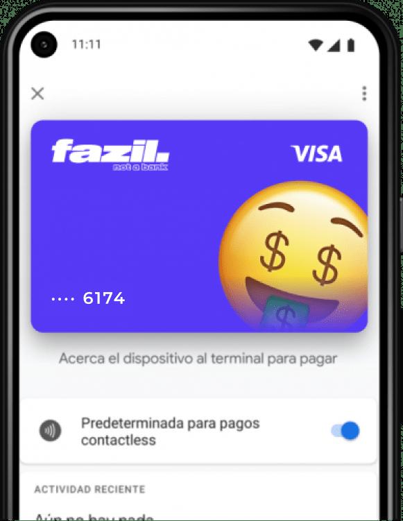 Tarjeta Fazil Google Pay