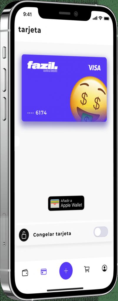 tarjeta fazil iphone